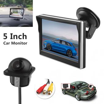 Harga 5 Inch TFT-LCD Digital Car Rear View Monitor with Front Diaphragm + 420 TV Lines Camera - intl