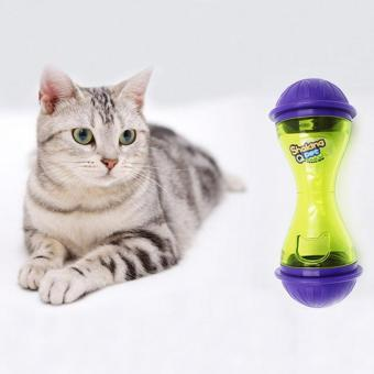 Harga Leakage Toy Ball Pets Cats Toys Fun Tasty Rolling Drain Training Food Toy Tableware Hot Feeders - intl