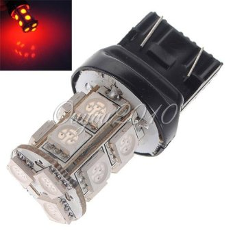 Harga 1Pcs T20 7443 W21W Auto Red 13 SMD 5050 LED Tail Brake Stop Light Lamp Bulb US Ship - intl