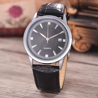 Harga Costie Land - Jam Tangan Pria - Body Silver/Black Dial -Costie Land -CL- 5519A-G-SB-TGL-(Silver)-Black Leather