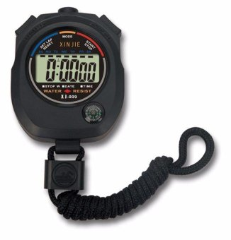 Harga Waterproof Digital LCD Stopwatch Chronograph Timer Counter Sports Alarm - intl