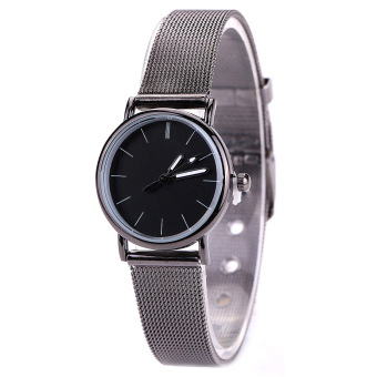 Harga CatWalk Women's Stainless Steel Band Round Dial Quartz Wrist Watch (Black)