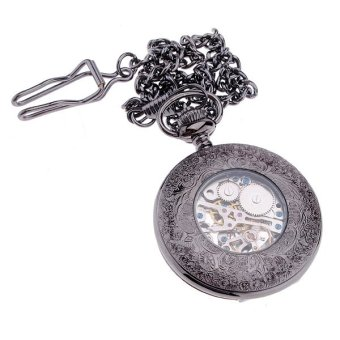 Harga Antique Steampunk Hollow Mechanical Pendant Pocket Watch