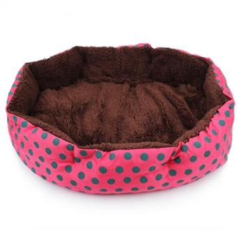 Harga Cotton and Comfy Pet Bed Cute Dog Cat House Supplies (Red) - intl