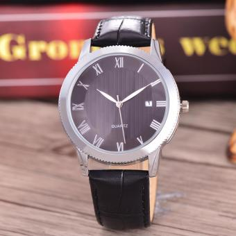 Harga Costie Land - Jam Tangan Pria - Body Silver/Black Dial -Costie Land -CL- 5517A-G-SB-TGL-(Silver)-Black Leather