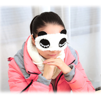 New Fashion panda shape Sleep Eye Mask Shade Rest Relax Sleeping Blindfold - intl