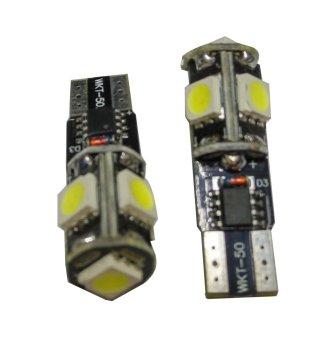 Lampu LED Senja Kota T10 Strobo - merah