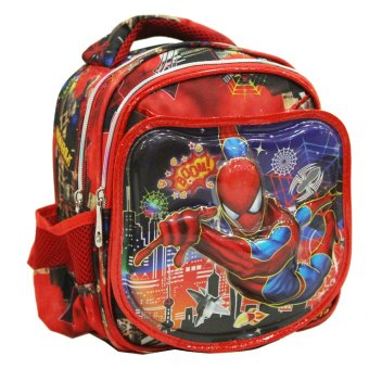 Harga Onlan Marvel Spiderman 6D Timbul Lapis Anti Gores Tas Ransel Play Group Unik dan Lucu New Arrival Import - Red
