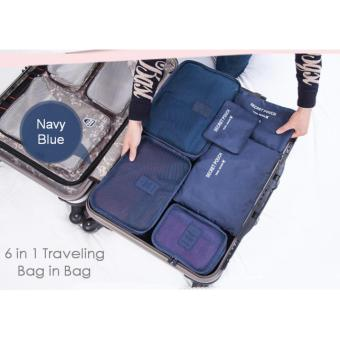Harga Travel Bag 6in1 Set Storage Baju Kotor Organizer Koper Limited