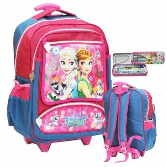 Disney Frozen Original Tas Anak Sekolah Sd Ukuran Sedang Fz924070 Green. Onlan .