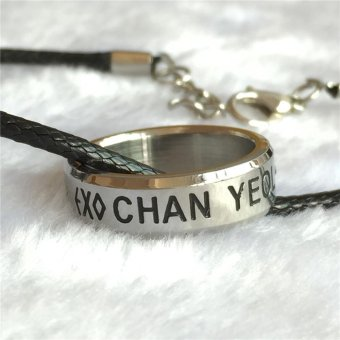 Harga Youpop K-POP EXO CHAYEOL Album Rope Ring Accessories KPOP Jewelry Rings With Lanyard - intl