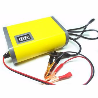 Harga Portable Motorcycle Car Battery Charger 6A/12V - Yellow