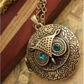 Harga Restore ancient ways the owl circular can open the necklace