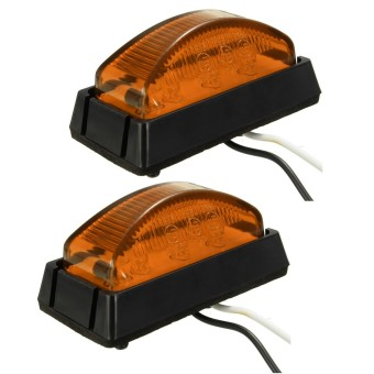 Harga Bus Van Car Truck Trailer LED Front / Side Marker Light Lamp 12/24V Amber Set Amber - intl