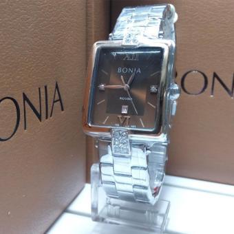 Bonia Jam Tangan Wanita Bonia BNB10275-2343 Silver Coklat Stainless Steel