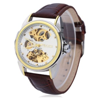 Harga MiniCar BOSCK 668 Men Double-sided Hollow-out Automatic Mechanical Watch #3(Color:#3) - intl