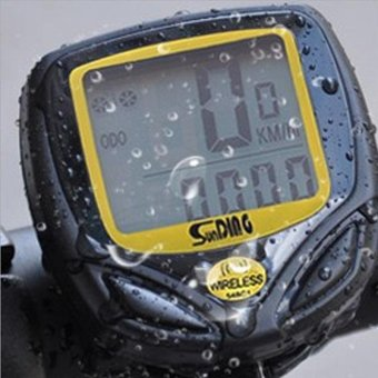 Harga Bike Bicycle Wireless Cycle Computer Odometer Waterproof Speedometer - intl