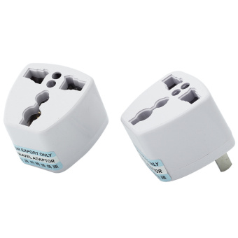 Harga 2 Pcs Universal EU UK AU to US USA AC Travel Power Plug Adapter Outlet Converter