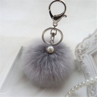 Harga Channy Soft Rabbit Fur Ball Car Cell Phone Keychain Pendant Handbag Charm Keyring Pom - Intl