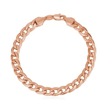 Harga U7 Cuban Chain Link Bracelet Rose Gold Plated (Pink)