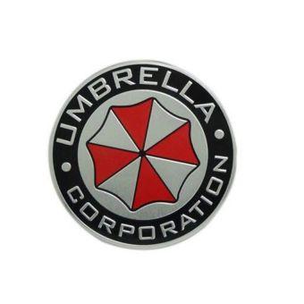 Logam 3D Umbrella Korporasi lencana lambang bagasi mobil stiker mobil - International