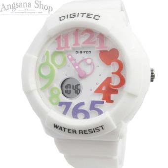 Digitec Dg3010 - Jam Tangan Olahraga Wanita - Design Classic Sporty - Dual Time - Waterresist