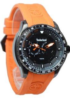 Timberland Crhono Jam Tangan Pria - Orange-Hitam - Strap Karet - T341