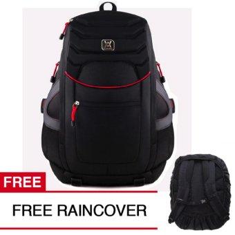 Gear Bag The All New Predator Tas Laptop Backpack - Black + FREE Raincover