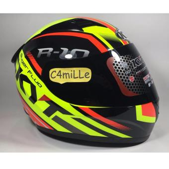 Harga HELM KYT R10 SUPER FLUO YELLOW FLUO RED FLUO FULL FACE