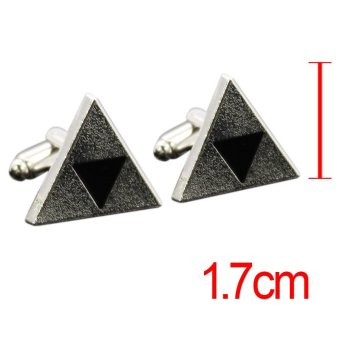 ... Print Couple Summer T Shirt . Source · Rorychen Men's French Button Cufflinks Triangle Cuffs Accessories (Gold, Silver and Bronze) -