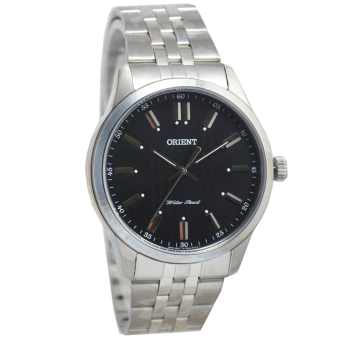 Harga Orient OR69P Polos Jam Tangan Pria - Stainless Steel - Silver Hitam