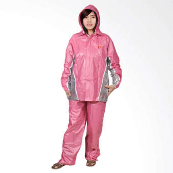 Indoplast jas hujan jaket celana fixie [pink] .