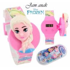 Jam Tangan Anak Wanita Frozen dengan Kepala yang bisa diganti