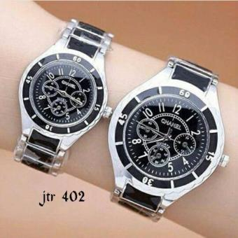 Jam tangan couple chanel (jtr 402 hitam)