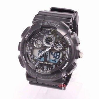Jam Tangan Digital Analog Lasika W-H 9001 Unisex - Black
