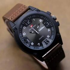 Jam Tangan Fashion Pria Swis Army-Leather Brown Terbaru  ST-9766