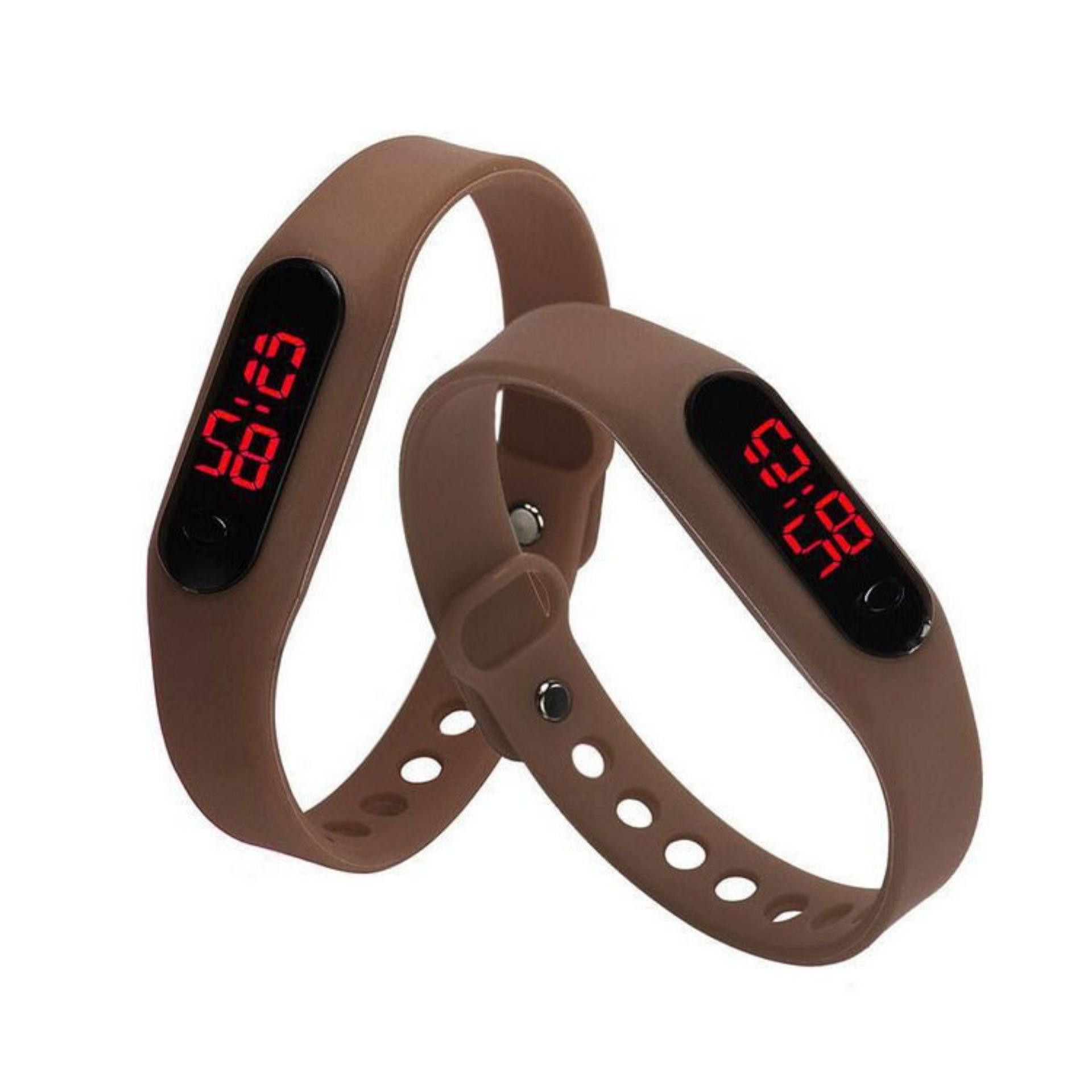 ... Jam Tangan LED Jam Tangan Pria dan Wanita Strap Karet