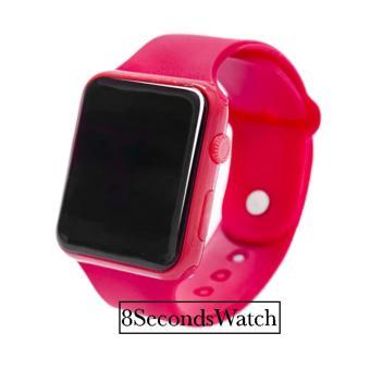 Jam Tangan LED Jam Tangan Pria dan Wanita Strap Karet Merah Apple Red . 499bfa6745