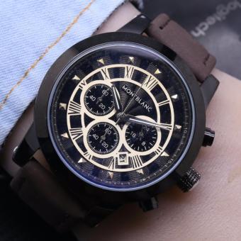 Perbandingan harga Jam tangan Pria - Model Trendy Casual - Leather strap - Chrono aktif eShop Checker