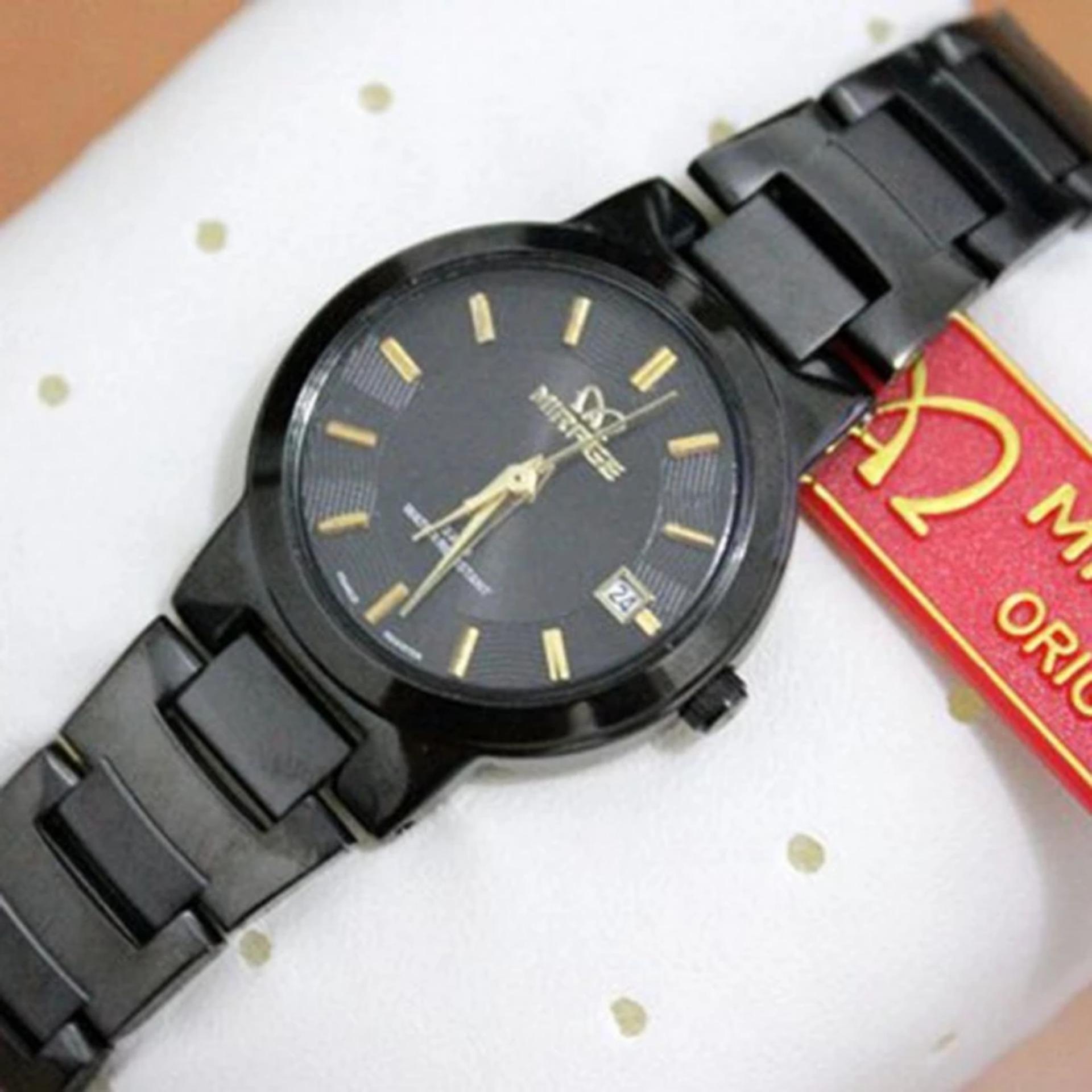 Cari Bandingkan Jam Tangan Pria Original Mirage Mr649 Strap Rantai