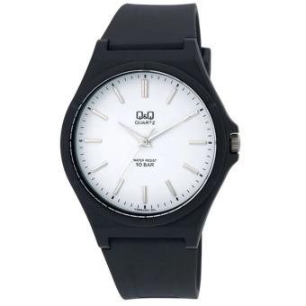 Jam Tangan Pria Wanita Q&Q Kombinasi Plat Putih007