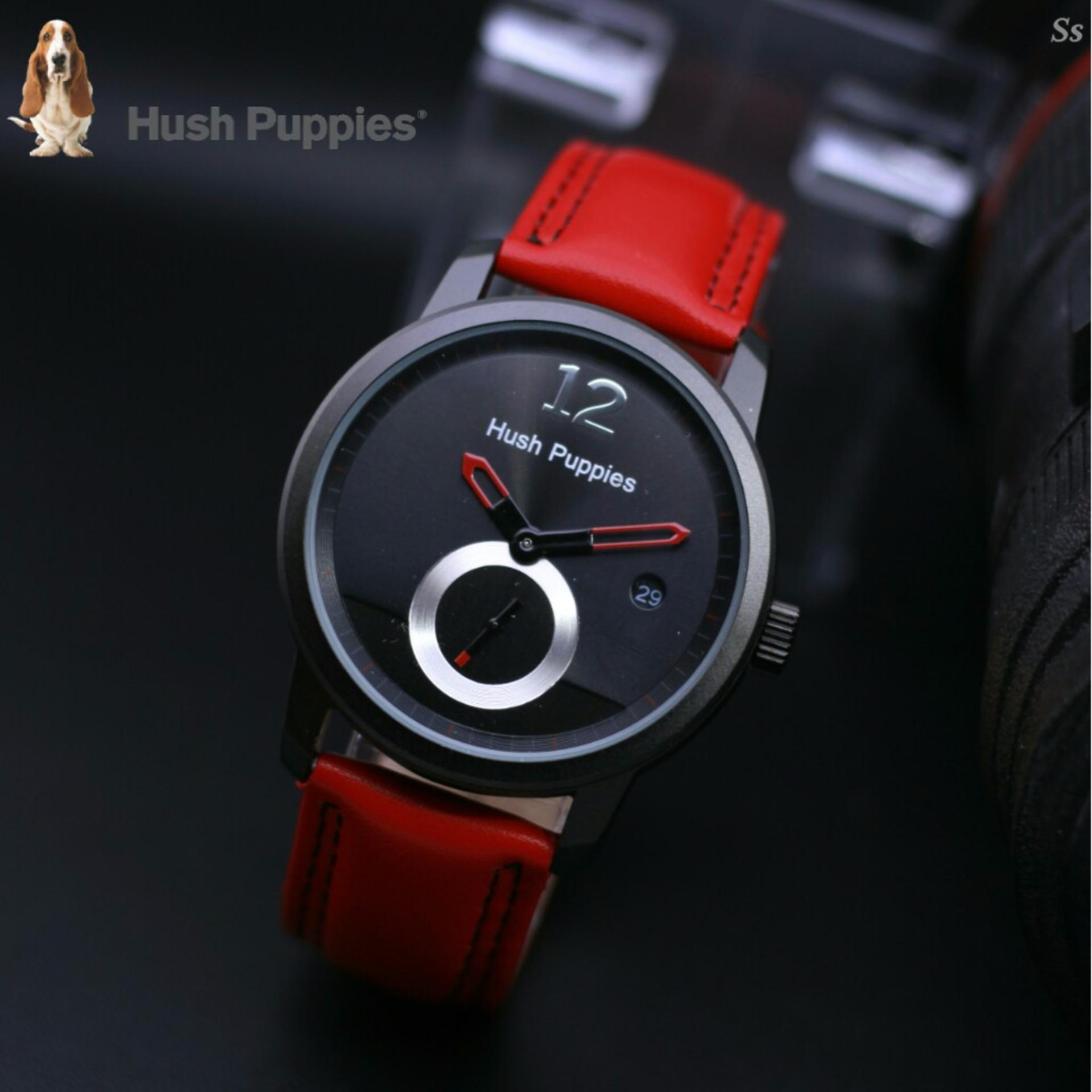 Swiss Army Jam Tangan Pria Body Black Black Red Dial SA. Source ... Jam Tangan Pria/Wanita H'ush Pupies Red leather strap .