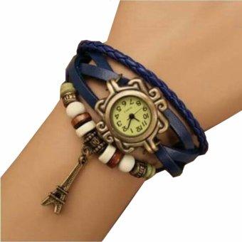 Harga Jam Tangan Wanita Fashion Leather Strap Lilit Gelang - Ungu ... 2dc853a65c