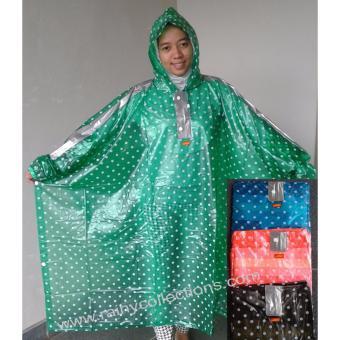 Jas Hujan Transparan Polkadot Ponco Elmondo-713