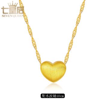 Jepang dan Korea Selatan cinta emas perak liontin kalung