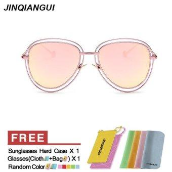 Gambar JINQIANGUI Sunglasses Women Pilot Titanium Frame Sun Glasses PinkColor Eyewear Brand Designer UV400 intl. Merk: JINQIANGUI