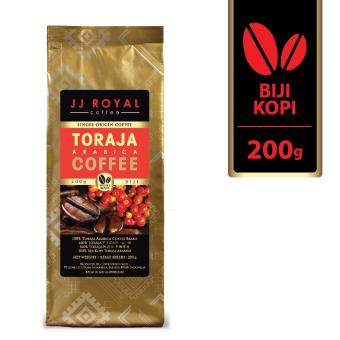 JJ Royal Coffee Toraja Arabica Beans (Kopi Biji) 200gr