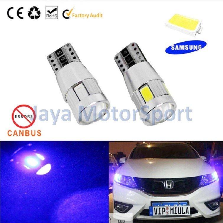 ... JMS - Lampu LED Mobil / Motor / Senja T10 Canbus 6 SMD 5630 - Pink ...