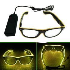 Kacamata DJ Glow LED - Yellow