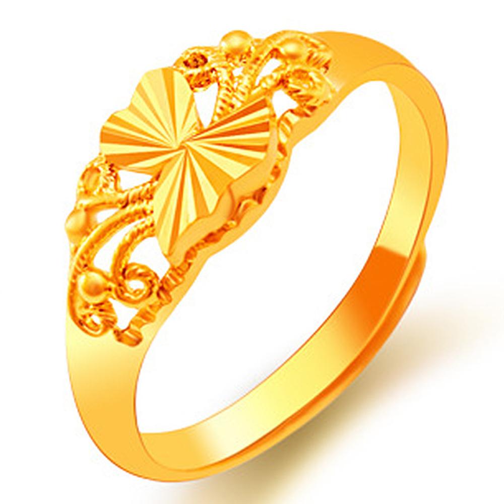 Flash Sale Kadis 24 KB GOLD dengan benar berlapis emas halus pernikahan ukuranbebas cincin - International